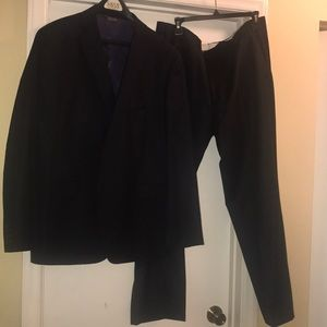 Men's Navy Blue Saks Fifth Avenue Suit